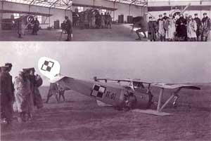 Катастрофа польского истребителя Ньюпор-17. Февраль 1920