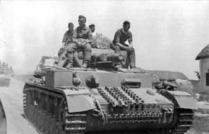 Наступление немецких войск.