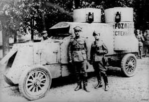 Захваченный поляками красноармейский Остин-Путиловец, называвшийся «Стенька Разин»