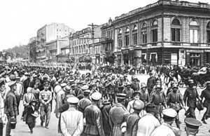 Германские интервенты вступают в Киев. 1 марта 1918.