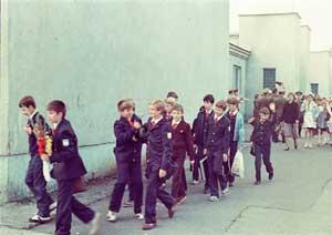 Советские школьники во время визита в Чехословакию в 1985 г.