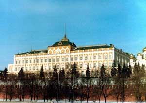 Большой Кремлёвский дворец, где с 1934 г. проходили сессии Верховного Совета СССР. Москва. 1982 г.