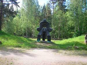 «Молох тоталитаризма» — памятник жертвам сталинских политических репрессий на Левашовском мемориальном кладбище.