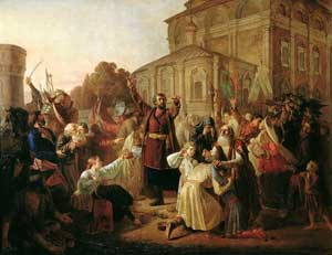 Воззвание Минина к нижегородцам в 1611 году. М. И. Песков (1834—1864)