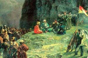 Свидание генерала Клюги фон Клюгенау с Шамилем в 1837 г (Григорий Гагарин)