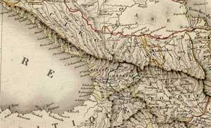 Карта Кавказа. 1824.