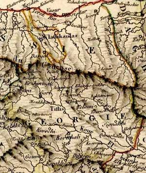 Центральная часть Кавказа. 1824.