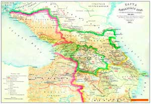 Карта Кавказского края (1801—1813). Составлена в военно историческом отделе при штабе Кавказского военного округа подполковником Томниевым.