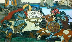 «Бой Александра Невского с ярлом Биргером» (картина Н. К. Рериха)
