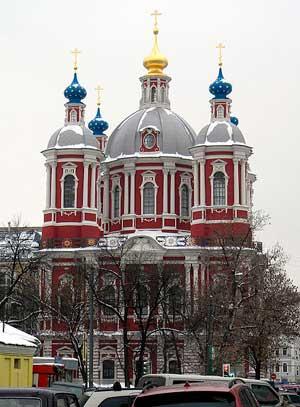 Православный храм в Москве.
