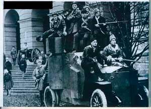 Красный Фиат Ижорский у Смольного. Осень 1917