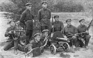 Командиры и бойцы РККА, 1930 год.