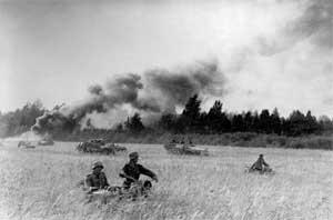 Солдаты дивизии «Великая Германия» во время контрудара в Прибалтике