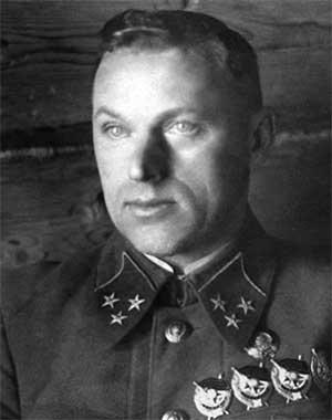 Константин Рокоссовский, командующий 1-м Белорусским фронтом (фотография начального периода войны).