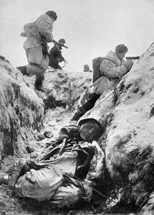 Начало наступления на Ленинградском фронте. 1943 год.