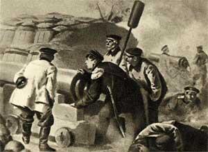 Адмирал Нахимов на севастопольском бастионе