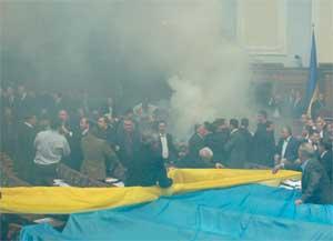 Сессионный зал Верховной Рады на момент ратификации Харьковских соглашений