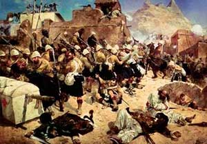Британские солдаты в Кандагаре, вторая англо-афганская война