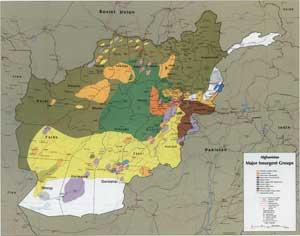 Силы оппозиции в Афганистане, по данным ЦРУ, в сентябре 1985 года.