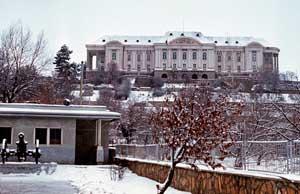 Дворец Тадж-Бек в Кабуле в 1987, штаб-квартира ОКСВА, бывшая резиденция Амина.