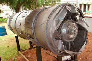 Двигатель самолёта U-2, сбитого в «Чёрную субботу». Музей Революции в Гаване