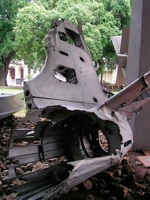 Обломки сбитого U-2 Андерсона.