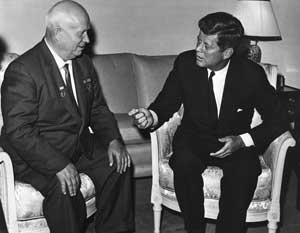 Никита Хрущёв и Джон Кеннеди