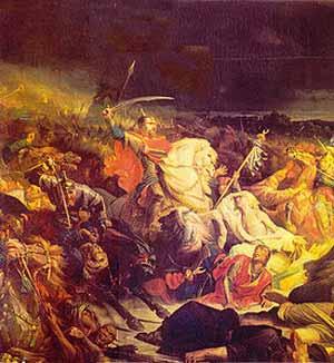«Куликовская битва» Адольф Ивон (1859)