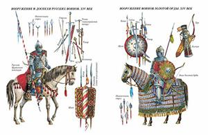 Вооружение и доспехи Русских войнов и Золотой Орды 04 века
